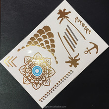 2015 hot new fake dragon tattoos metallic temporary tattoos jewel flash tattoos gold tattoos/tatoos/body tattoos