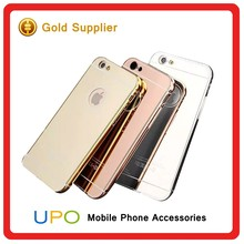 [UPO] Luxury Aluminum Metal Bumper PC plastic Back Cover Mirror Phone Case for iPhone 4 4s 5 5s 6 6s 6 plus with plain surface