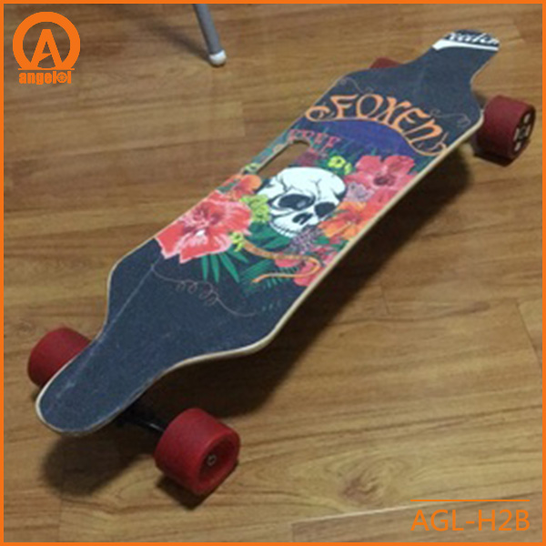 The beautiful longboard dancing skateboard,sand paper could customized longboard