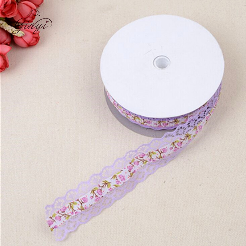 1 Inch Embroidery Printed Grosgrain Ribbon Decoration Lace Ribbon GYN-1165
