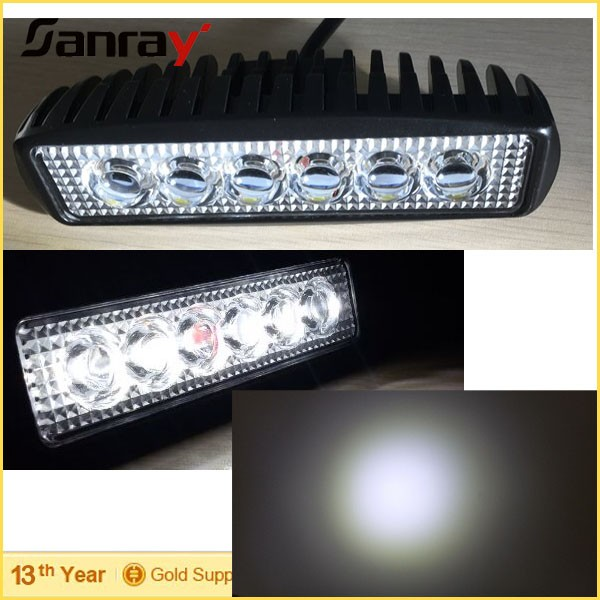 18w 6inch offroad Auto small led light bar with 5D reflector