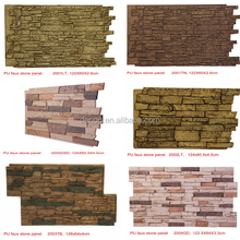Polyurethane faux stone wall panels for indoor