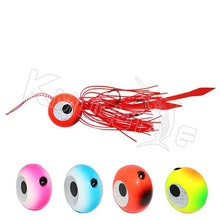 CHLP75 lead head with rubber skirts fishing lures saltwater madai snapper jig