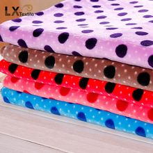High quality factory price Knitted warp printed 100% polyester flannel fabric
