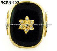 Royal Style Rose Cut Diamond Rings Handmade Ring Wedding costume Ring for Girls