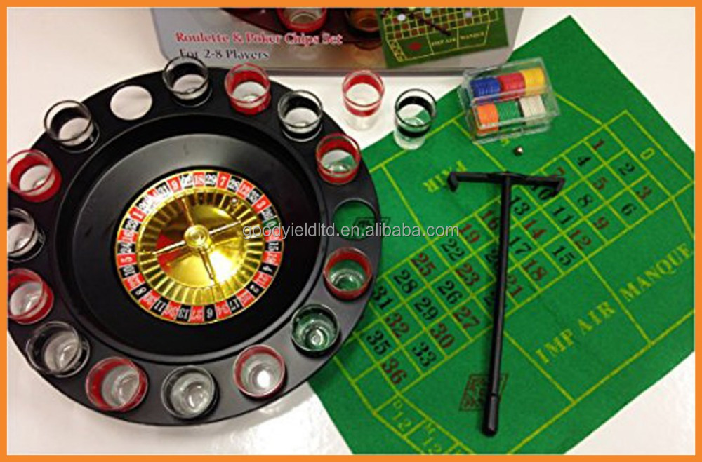 Hot Sold Roulette Drinking Game With Poker Chips Set (GYDI05018)