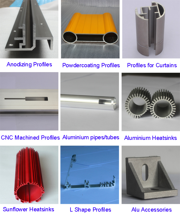 custom made cnc machining aluminum extrusion by china aluminum profile manufacturer