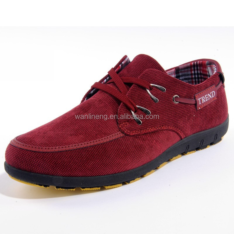 2015 Factory price canvas 3colors causal lace-up men shoes