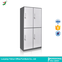 KD slim 4 doors steel hotel locker for clothing storage