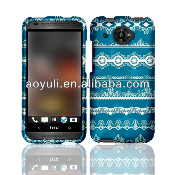 case for HTC Desire 601 Zara mobile phone, snap-on back cover case with especial blue image, phone case