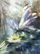 Impressionist Dragonfly Oil Painting Good Art Hotel Decoration