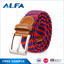 Alfa 2017 Customized Mixed Color Strech Leather Men'S Fashion Elastic Belt