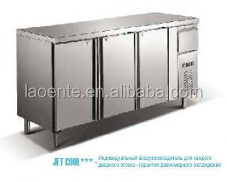 stainless steel refrigerated salad bar/salad bar prep table cooler OEM factory