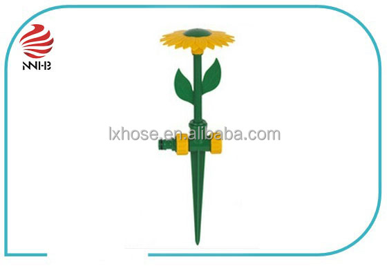 "Hot sell! 1/2"" Sun flower Irrigation pin plastic agricultural lawn garden sprinkler"
