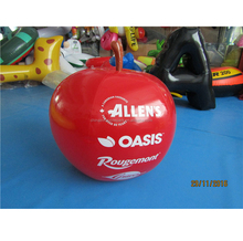 cheap helium inflatable apple shape balloon for advertising