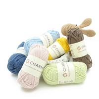 Charmkey new fashion cotton blended yarn soft blended yarn baby yarn for knitting