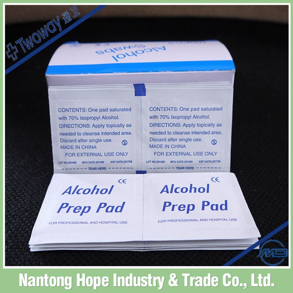 disposable alcohol pre pad