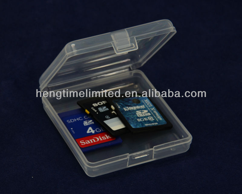 Half transparent Plastic SD Card Box