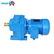 China XINJIN Transmission factory High precision SEW standard R series R37,R47, R57, R67, R77 helical straight shaft gearbox