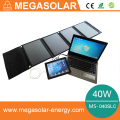 Fast charging 40w portable solar laptop charger