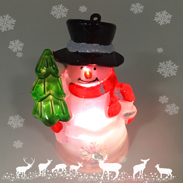 Color Changing Led Lighted Acrylic Snowman Christmas Hanging Decoration Ornaments