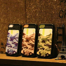 New Design Phone Case, Camouflage Phone Cover With Card Slot For IPhone5