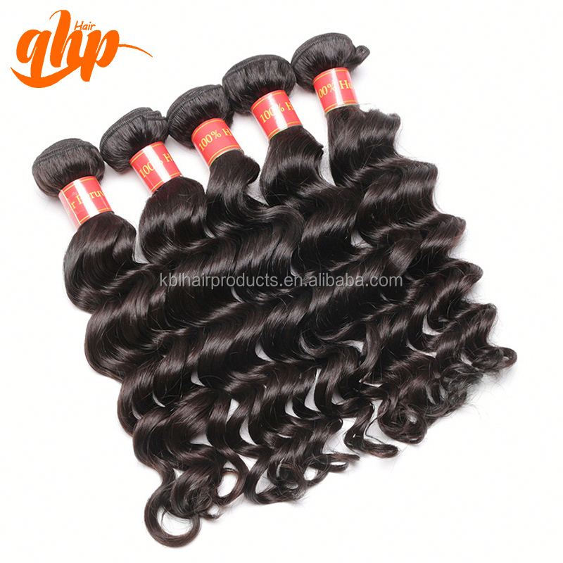 QHP HAIR Best quality 100% real human hair virgin Peruvian wavy virgin hair