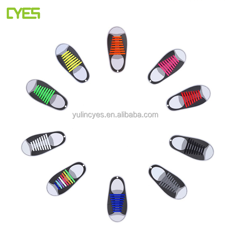 Factory cheap price wholesale silicone rubber shoelaces no tie