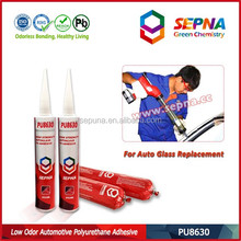 ISO14001 certified PU8630 auto side glass PU sealant used in variety bonding and sealing