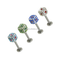 Surgical Steel Gems Labret Style Nose Stud Ring For Women
