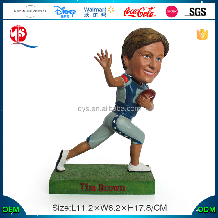 Resin Crafts Custom Soccer Tim Brown Dashboard Bobblehead Bobble Head