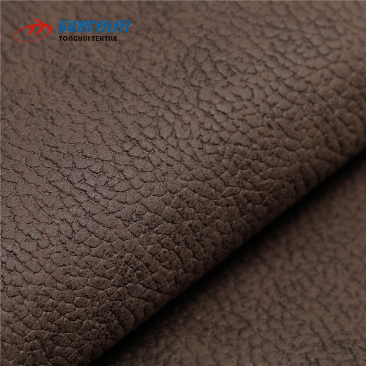 China Textile 100% Polyester Faux Leather Tablecloth Fabric