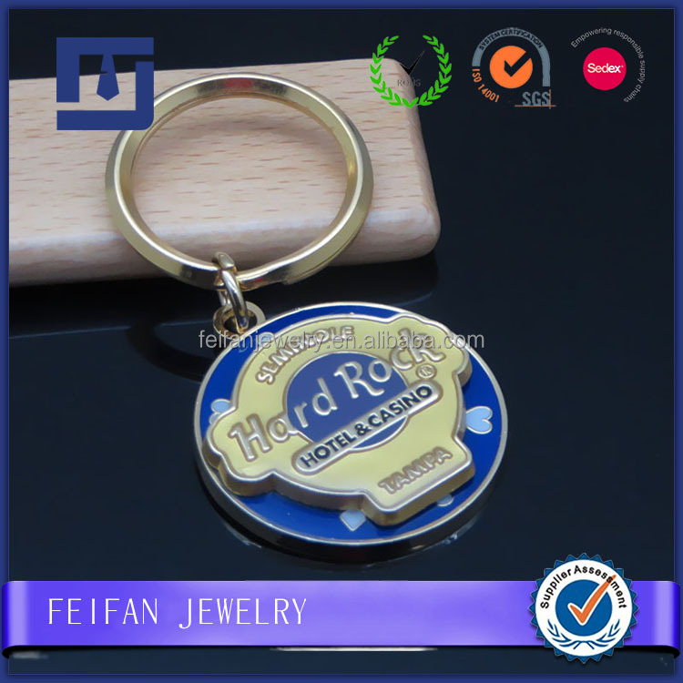 China Supplier brass material engraved logo souvenir keychain for promotion