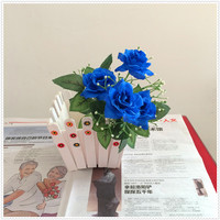 Artificial flower artificial single rose outdoor artificial plastic flowers