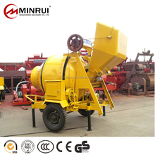 Minrui Group small portable concrete mixer jzm350 with pump high quality