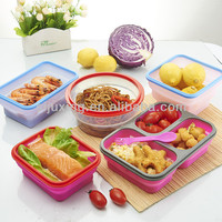 Food grade silicone foldable fresh lunch box series