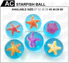 promotion toys sea 45mm starfish 3D rubber bouncing ball
