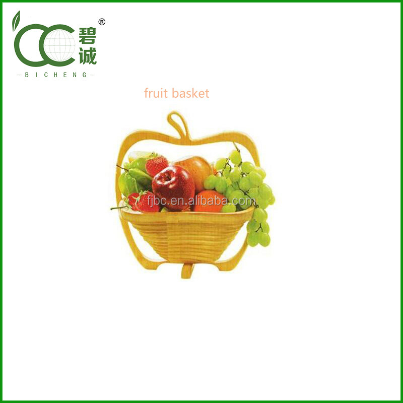 Eco-Friendly bamboo folding wooden fruit basket