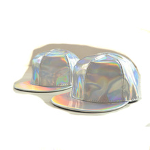 Reflective personality hat 6 panel sunshine hats hip-hop cap men and women