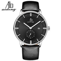 2016 Oem Luxury North Men Quartz Watches Genuine Leather Waterproof Casual Wrist Watch For Man