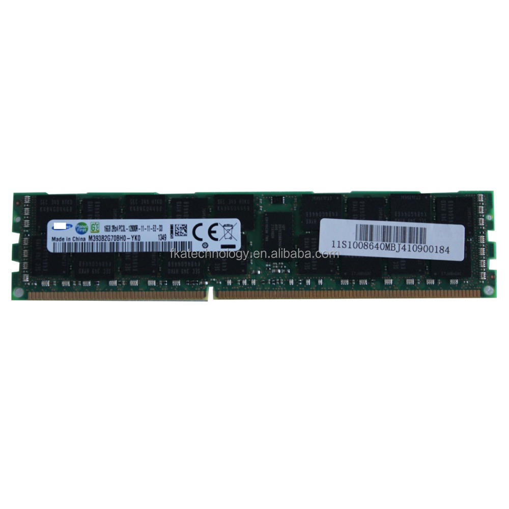 M393B2G70BH0-YK0 <strong>16GB</strong> 1x16GB 2RX4 DDR3-1600 PC3L-12800R Memory for Sumsung Server RAM
