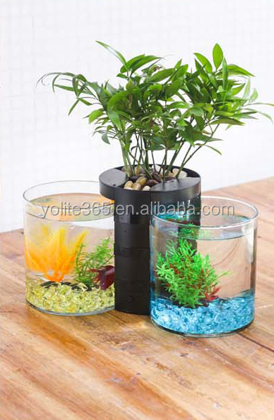 Hot Wall Mounted Hanging Acrylic Fish Tank Aquarium Bubble Fish Bowls Set/ Kit New