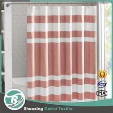 Fancy ready made elegant pink stripe shower curtain