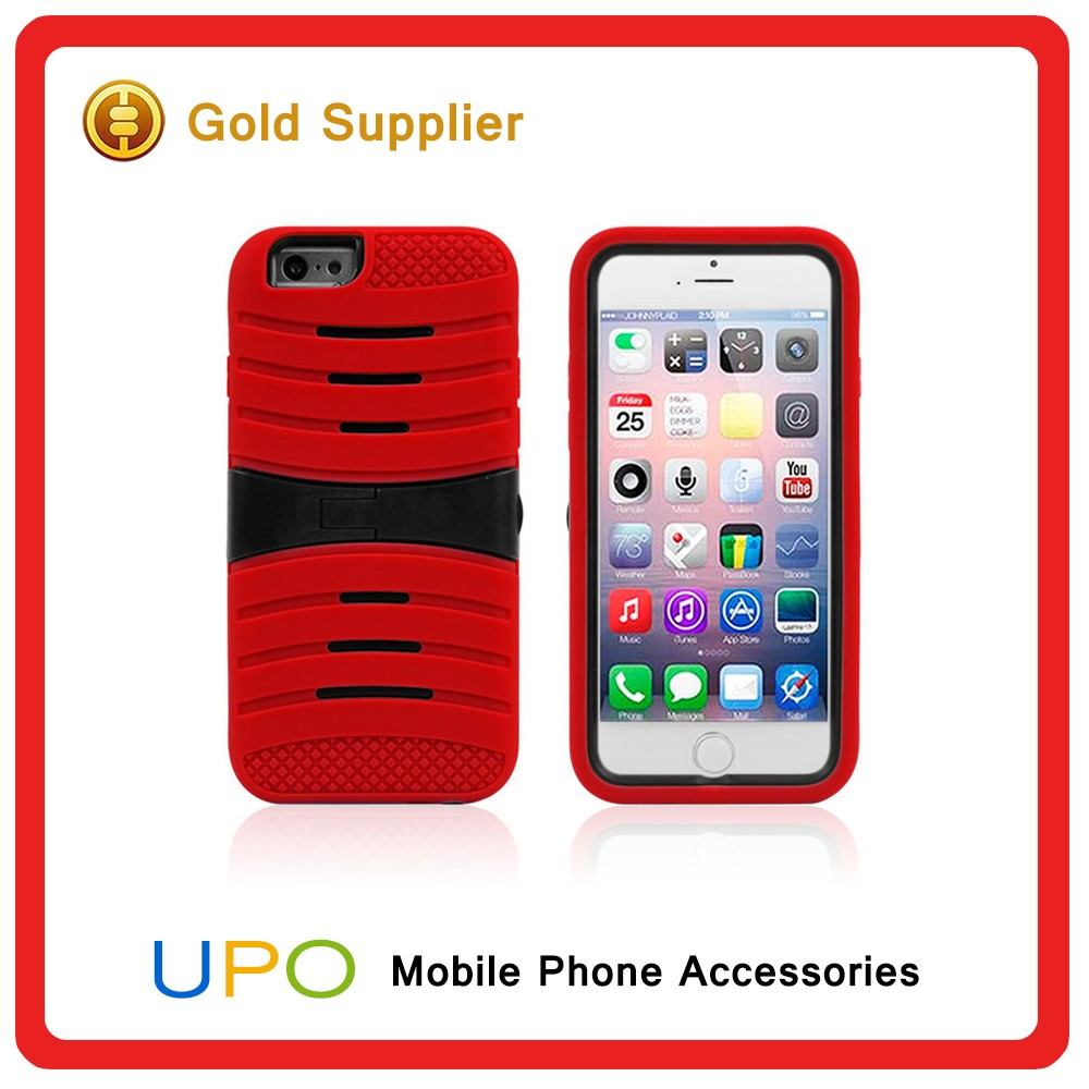 [UPO] Kickstand Hybrid Plastic Pc Silicon material Phone cases for iPhone 6 6s