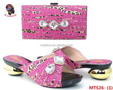 Gzmadison Beautiful Multicolor Italian Low Heel Shoes And Bags With Stones To Match Women/MTS26-1