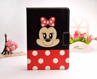 Kids cute cartoon painting leather case cover for apple ipad mini 2 3 4