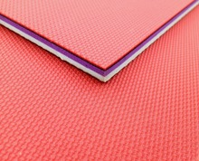 Table-tennis court flooring of PVC