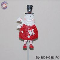 funny handmade christmas snowman crafts on stick