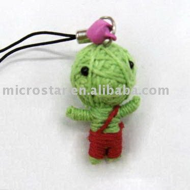 High quality voodoo doll mobile phone key chain