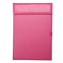 A4 Leather Office Stationery Clip Board /Writing Board With Magnet Clip and Pen Solt
